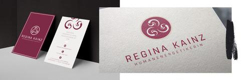 Logo und Visitenkarten Regina Kainz