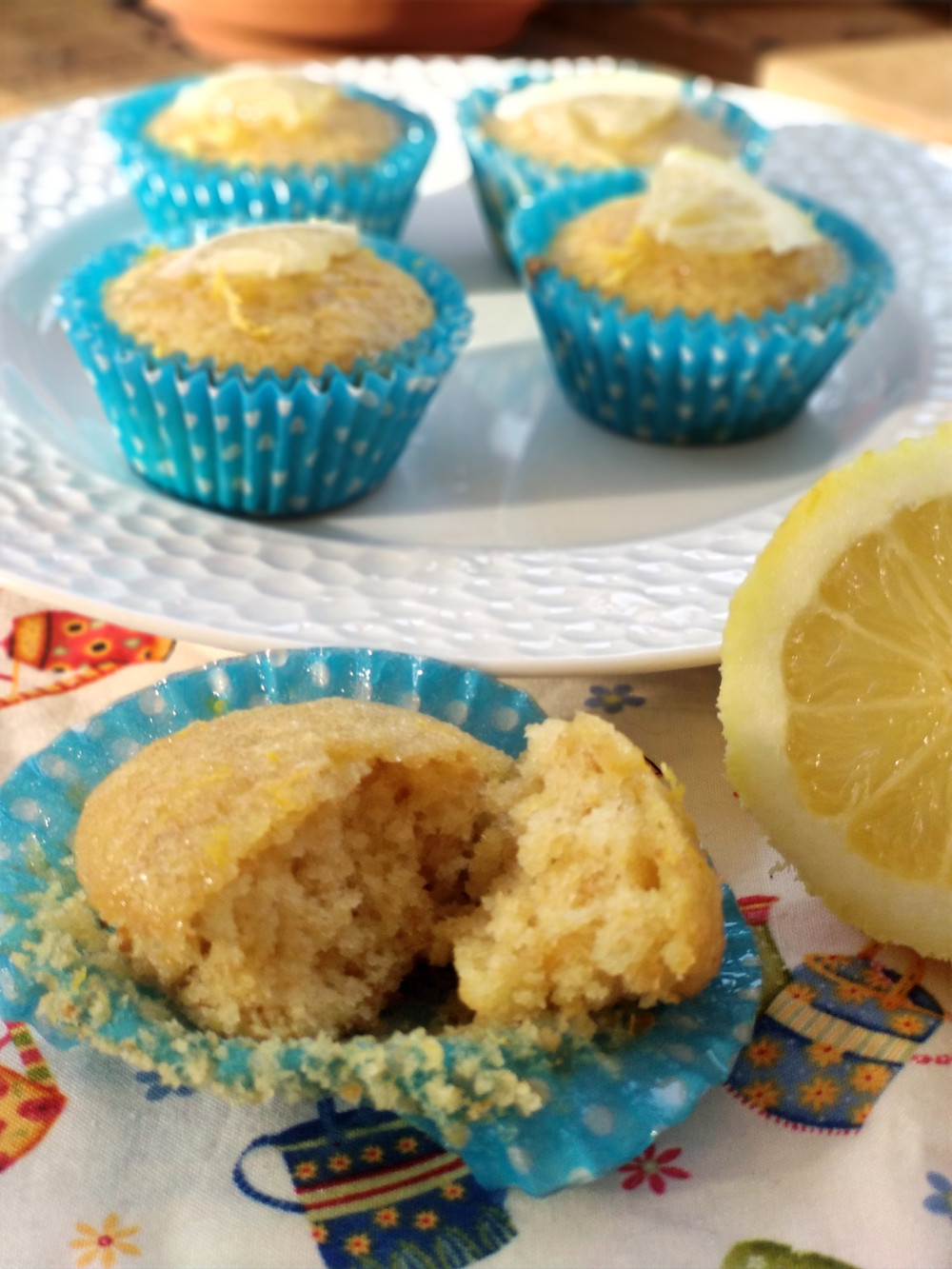 muffins veganos de jengibre y limón
