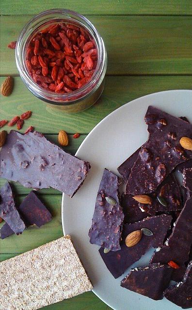 chocolate vegano con thermomix