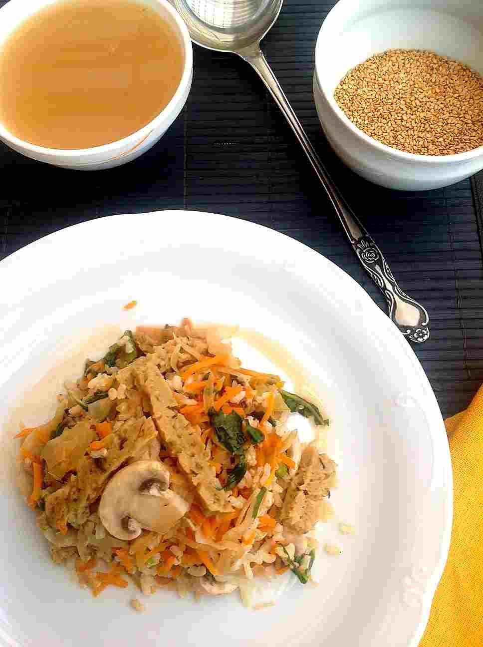 arroz con seitan
