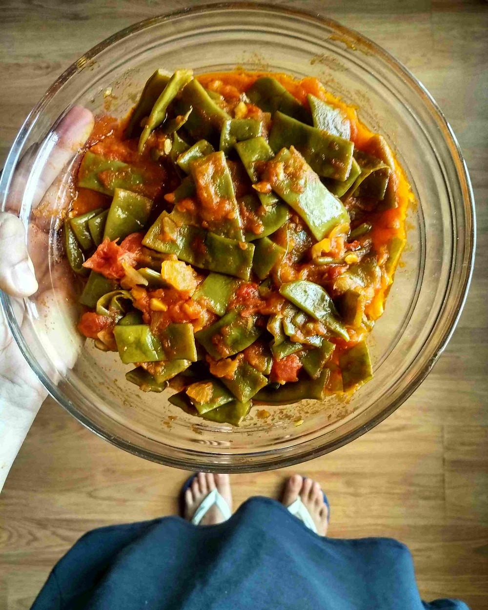 judías verdes con tomate thermomix