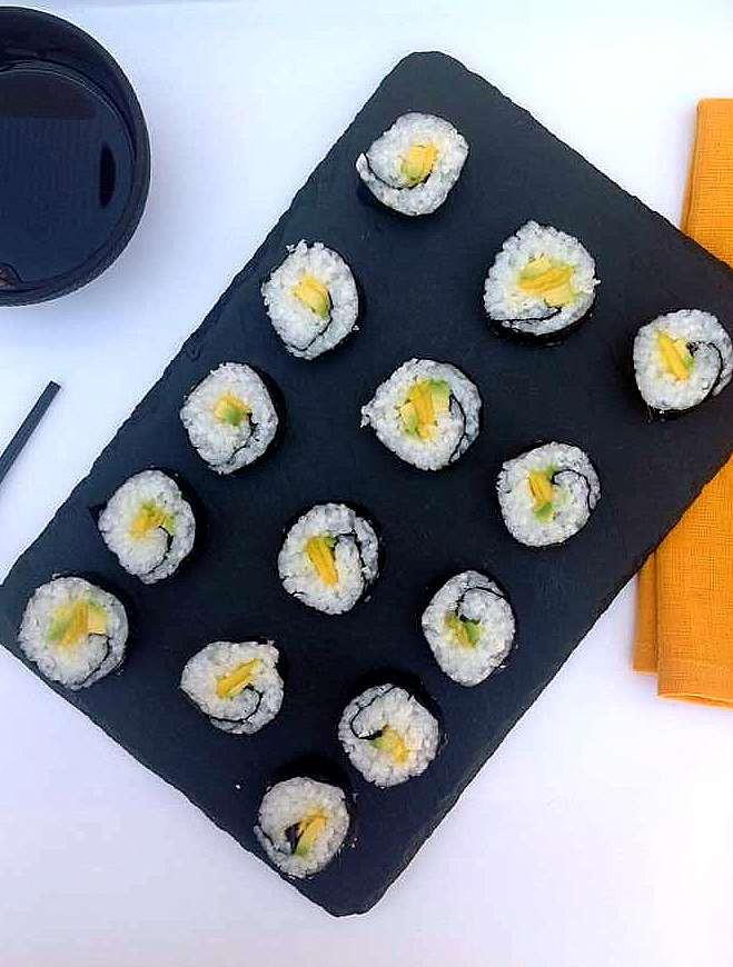 sushi vegano con thermomix