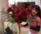 造花アートフラワー、シルクフラワーの装飾とインテリア、レンタル 吉野真由美さま
