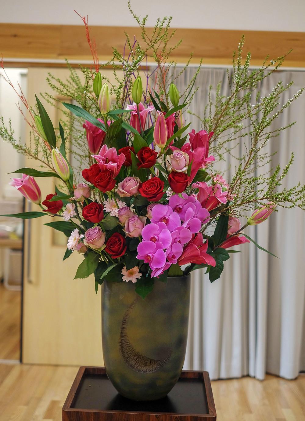 生花 イベント ツボ花 イベント装飾 イベント花 学校 入学式 入社式