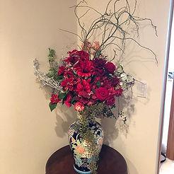 これからの季節に向けたフラワーレンタルです!_クリスマスには別途装飾依頼、いつも