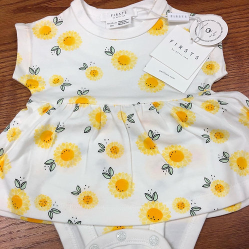 Petit Lem Firsts Romper, sunflower