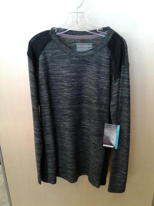 Burnside long sleeve top, blk/grey
