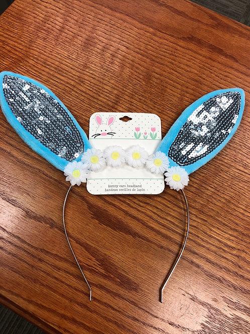 Easter Bunny Ears Headband, blue