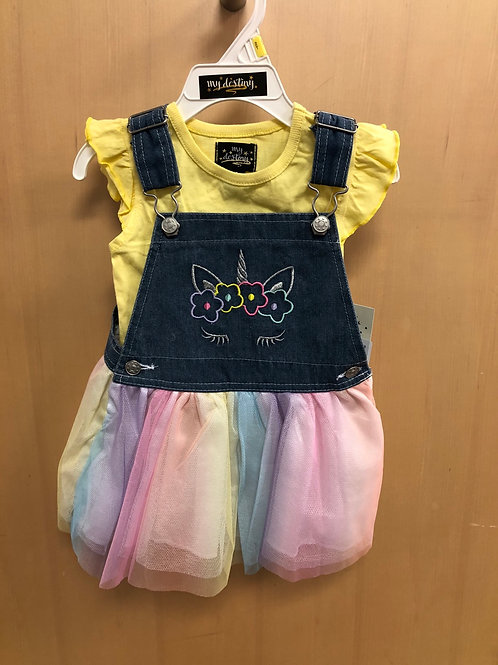 2 piece skirt Jumper set, yellow