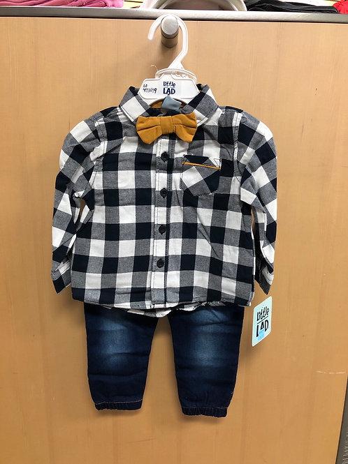 Little Lad 3pc Denim Jeans Set, 12-24m