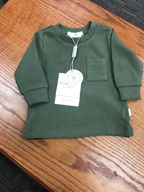 Petit Lem Organic Cotton L/S Ribbed Top