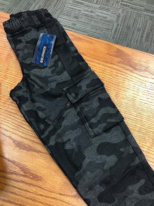 Burnside Jogger w/cargo pocket, black