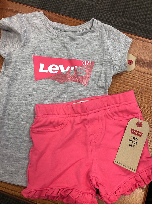 Levi's 2pc Shorts & Tee Set, 4-6X