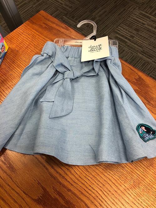 Deux Par Deux Chambray Skirt, 7-12