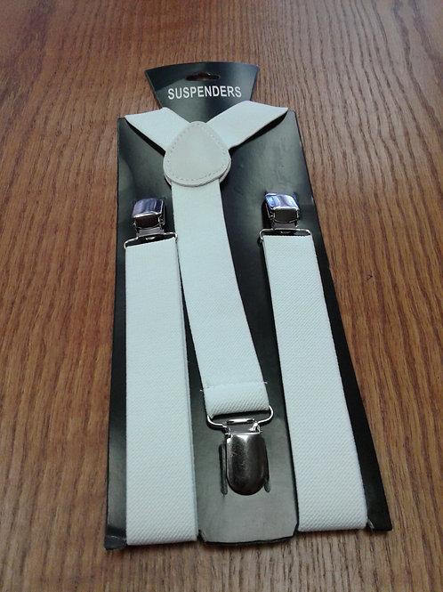 Suspenders, white