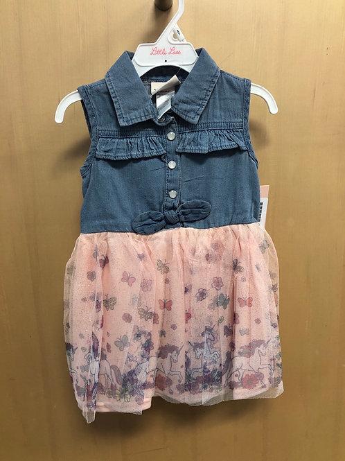 Little Lass Denim Dress, 2T-4T