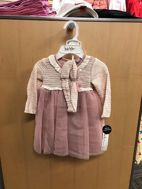 3pc Dress, Panty & Headband Set, 0/3-6/9m