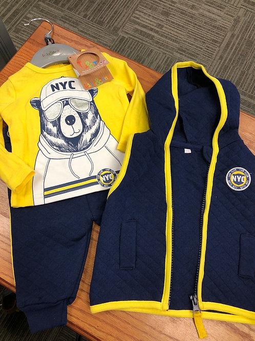 Lily & Jack 3pc Set with Vest