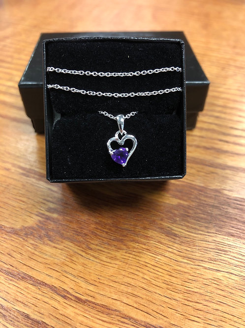 ".450ctw Amethyst 18"" Sterling Silver Necklace"