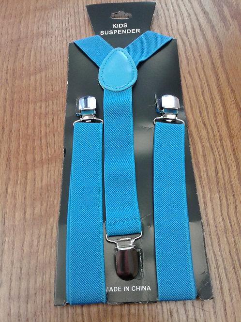 Suspenders, turquoise