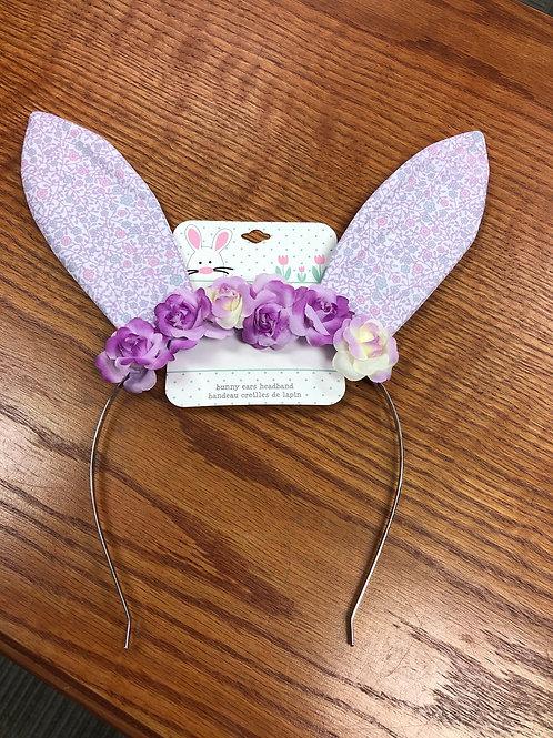 Bunny Ears Headband, purple