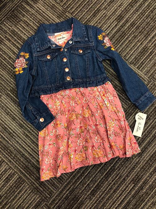 Little Lass Dress & Denim Jacket Set