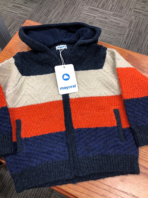 Mayoral Full Zip Hooded Sweater