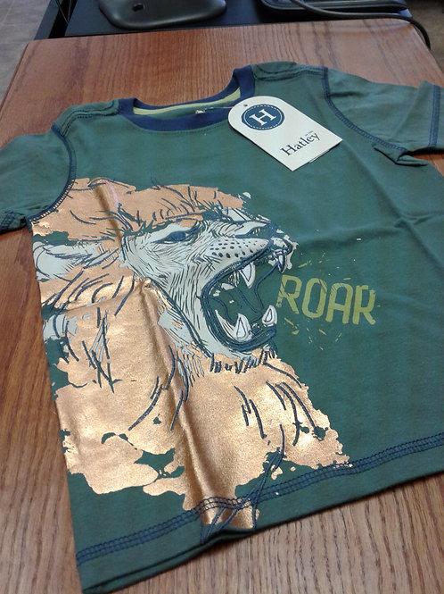Hatley T-shirt, lion, green