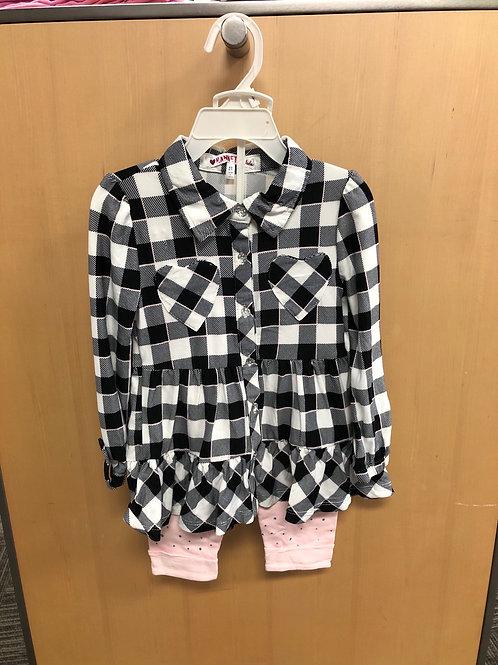 2pc Legging & Flannel Shirt Set, 2T-4T