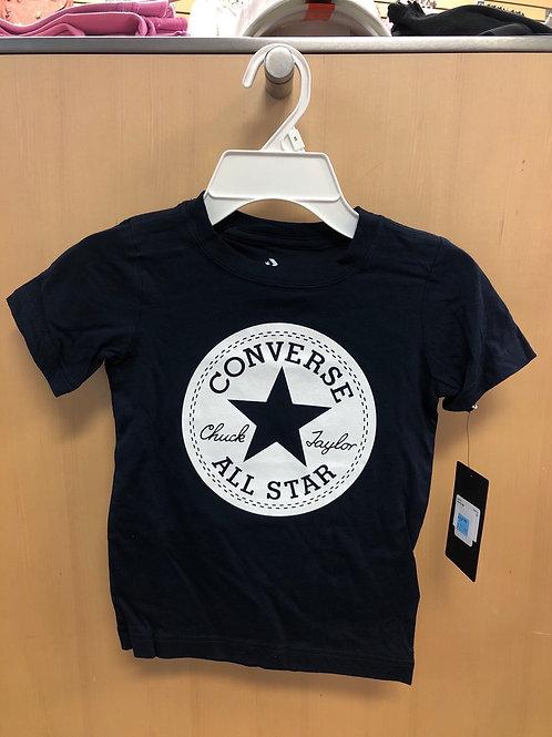 Converse T-Shirt, Navy, 4-7