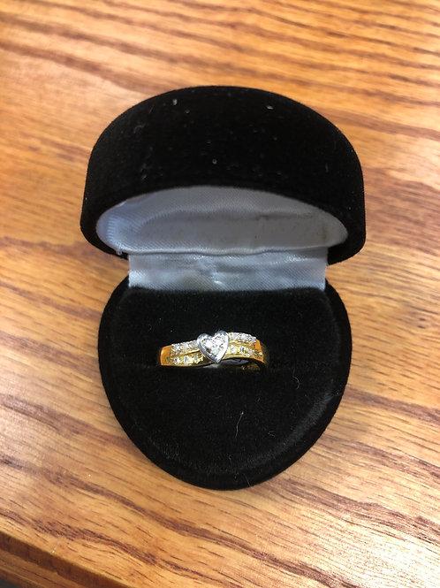 .08ctw Diamond Heart Ring, Size 7