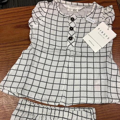 Petit Lem Firsts Dress & panty, Window Pane