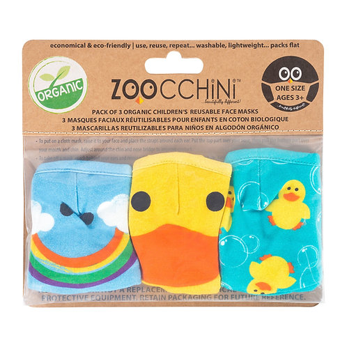 Zoocchini 3pk Re-usable Face Masks, Ducks