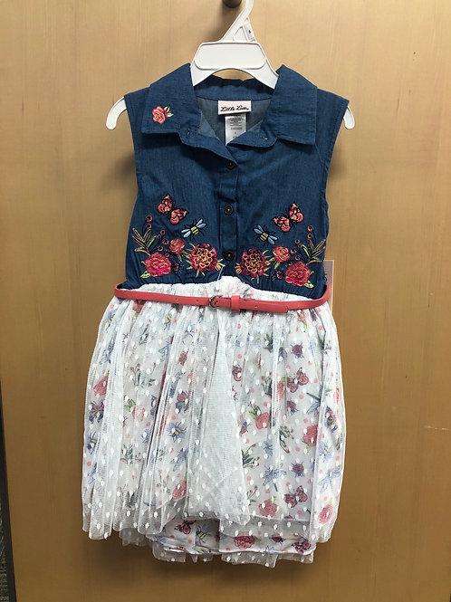 Little Lass Denim Tutu Dress, 4 - 6