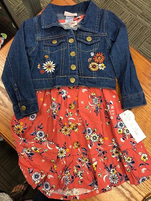 Little Lass Dress & Denim Jacket Set, 2T - 4T