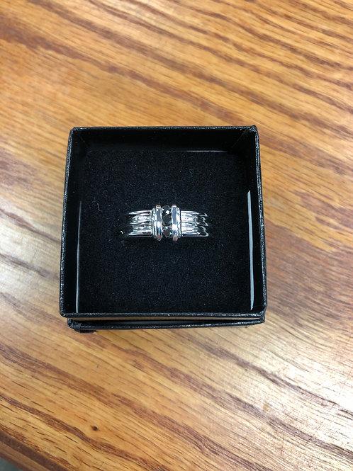 .240ctw Black Diamond Ring, Size 8