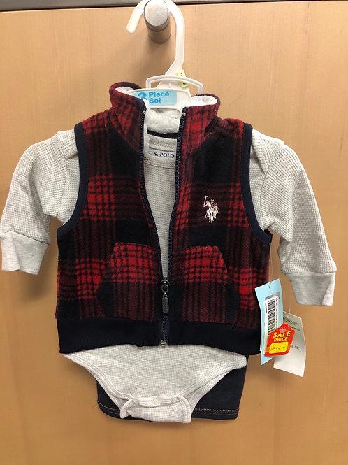 U.S. Polo Assn. 3 Piece Vest Set