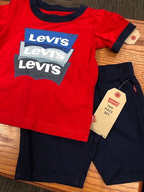 Levi's 2pc Shorts & Tee Set, 2T-4T