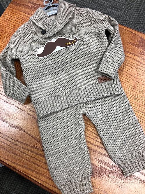 Little Gent 2pc Knit Sweater & Pant Set