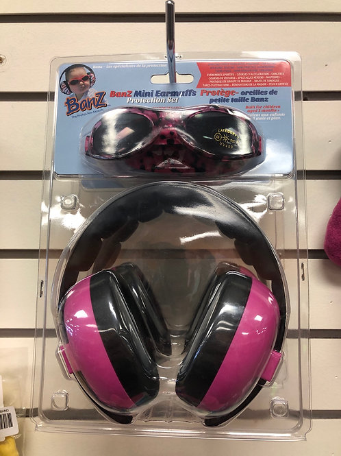 Earmuff protection and Sunglasses Set
