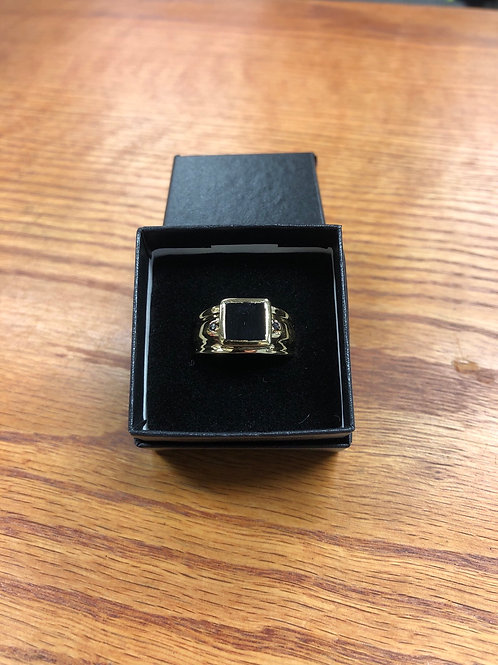2.20ctw Men's Black Onyx Ring, Size 9
