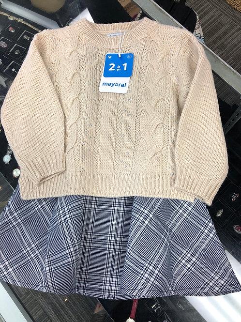 Mayoral 2pc Sweater & Dress Set, 2-7