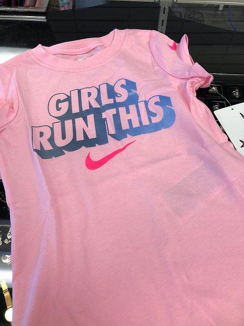 """Nike """"Girls Run This"""" Tee"""