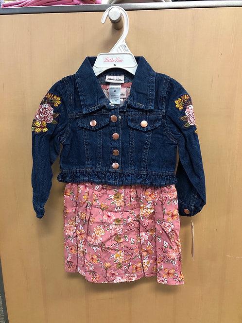 2pc Jean Jacket & Dress Set, 2T