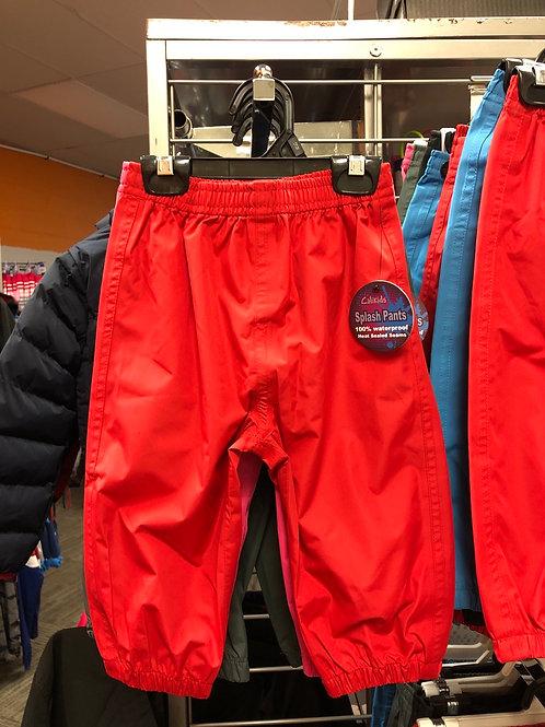 Calikids Splash Pants, Red