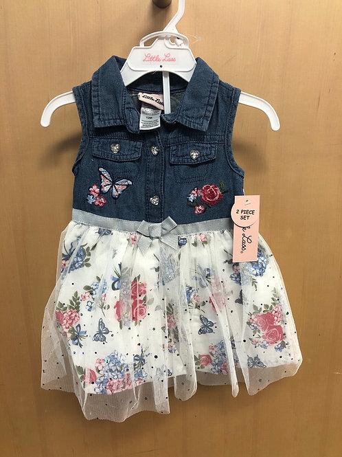 Little Lass Denim Dress w/panty, 12m - 24m