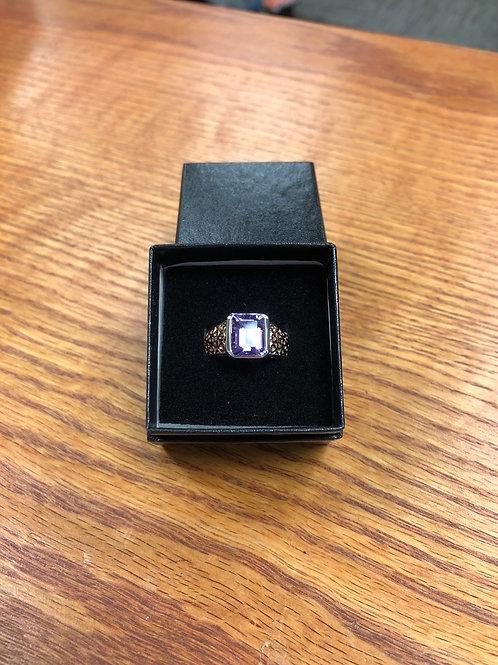 3.25ctw Amethyst Ring, Size 9
