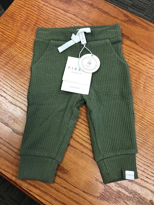Petit Lem Organic Cotton Ribbed Pant