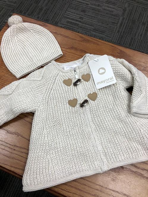 Mayoral Knit Sweater & Hat Set