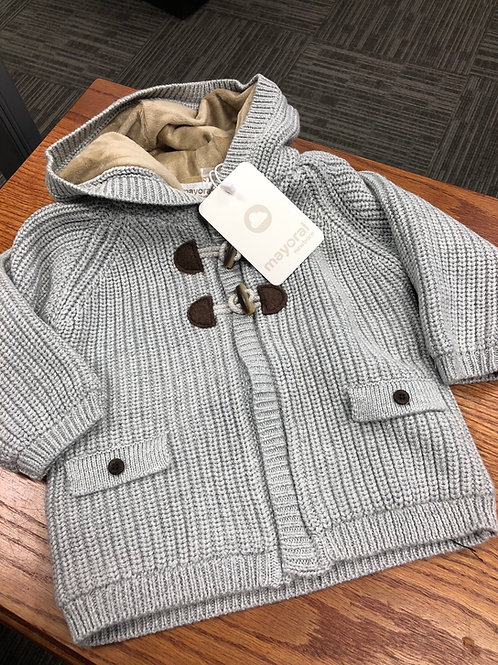 Mayoral Knit Hooded Sweater